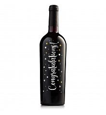 Wine Gifts: Congratulations Keepsake Red Wine Bottle