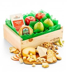 Fruit Baskets: Fresh Fruit Duo & Cheese Crate