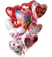 Balloons: Romantic Balloon Bouquet-12 Mylar