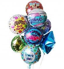 Balloons: Thank You Balloon Bouquet-12 Mylar