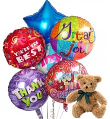 Balloons & Bear: Thank You Balloons & Bear-6 Mylar